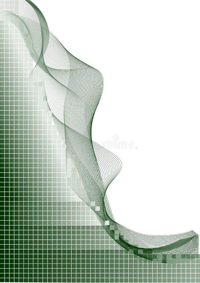 回到绿线导航白色 向量例证
