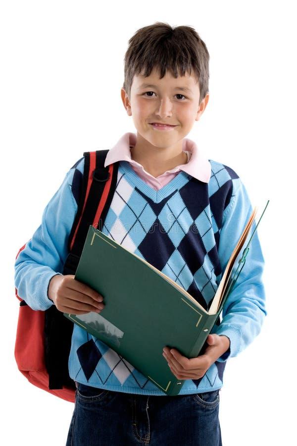 回到美丽的男孩学校学员 免版税库存图片