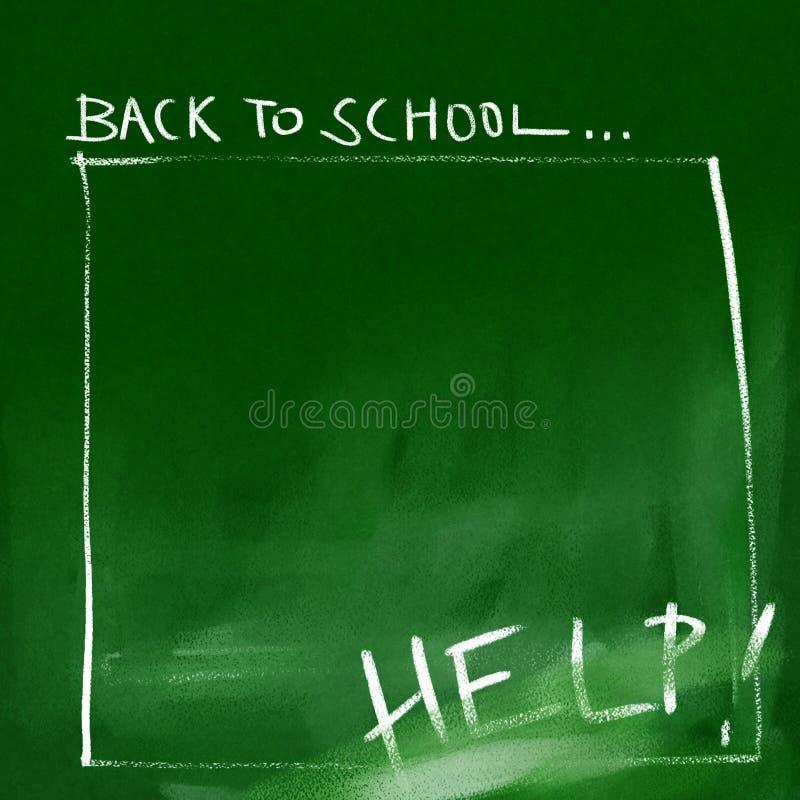 回到背景黑板学校 库存例证