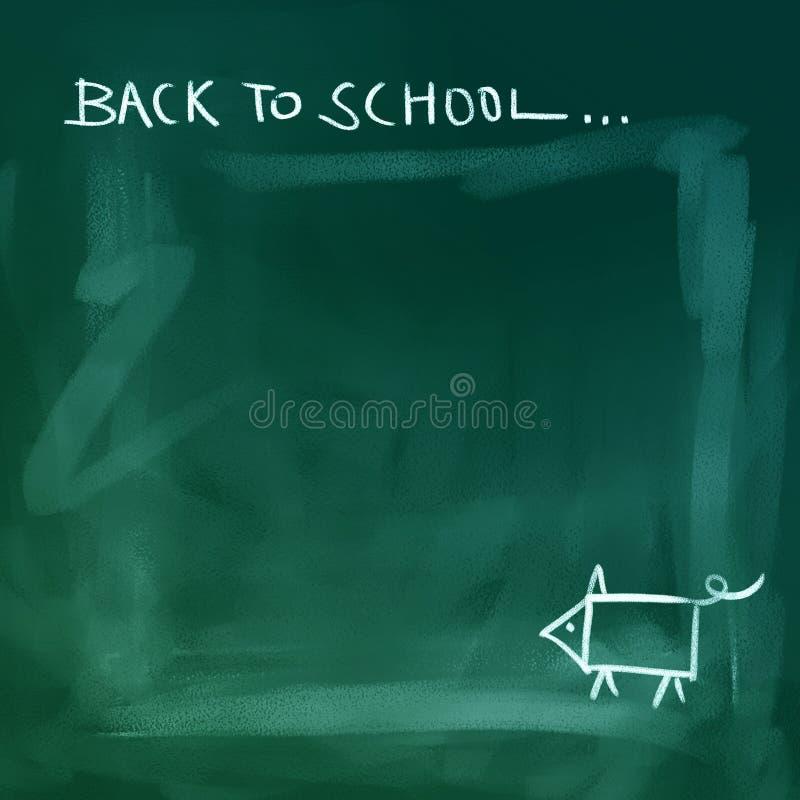 回到背景黑板学校 皇族释放例证
