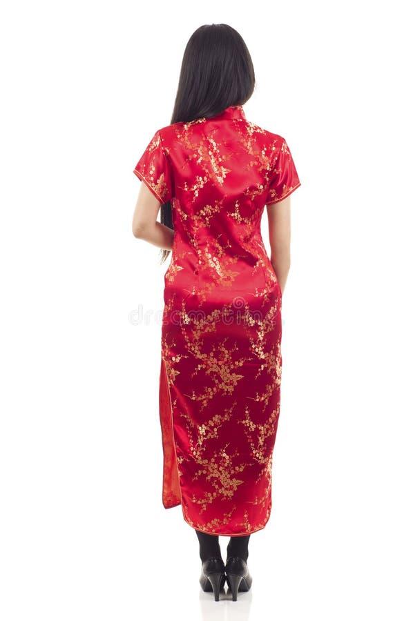 回到视图亚洲人妇女 免版税库存图片