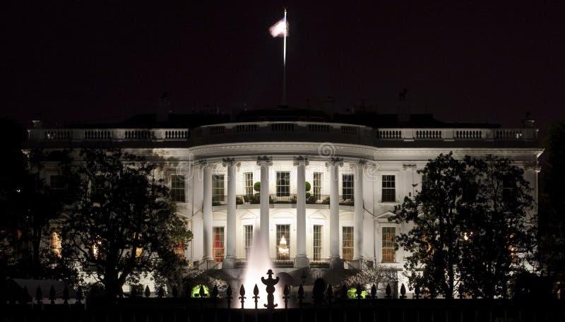回到门面房子白色 免版税图库摄影