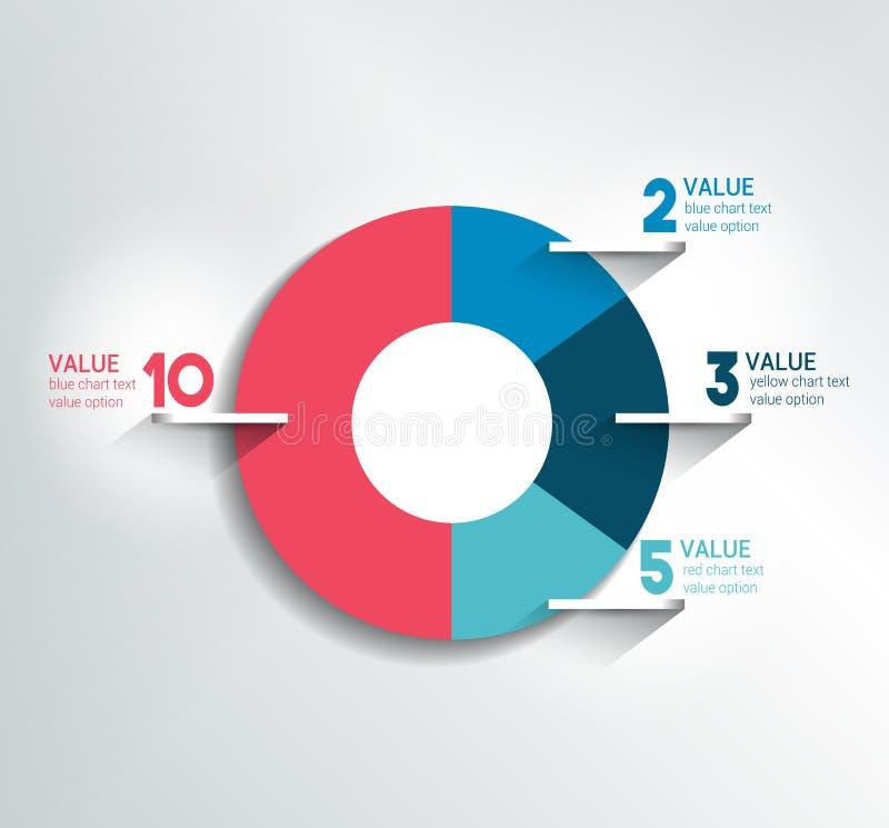 回合,圈子图,图表 编辑可能的颜色 库存例证