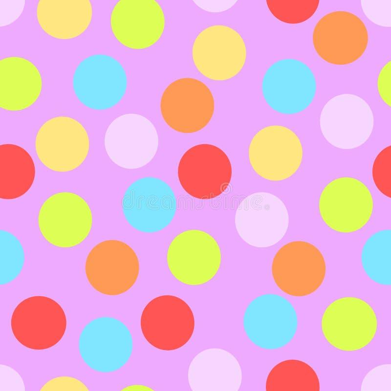 回合,小点的一个无缝的样式,类似五彩纸屑,狂欢节的乐趣,也在传染媒介 库存例证
