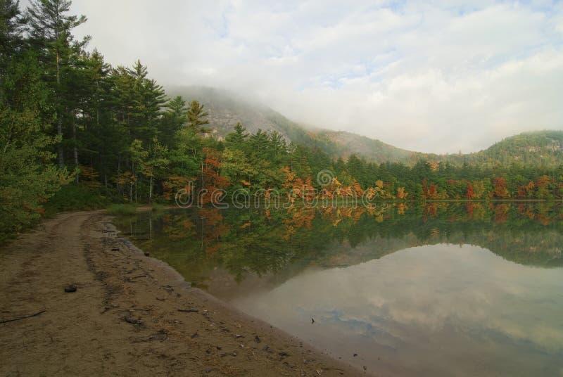 回声湖反映 库存照片
