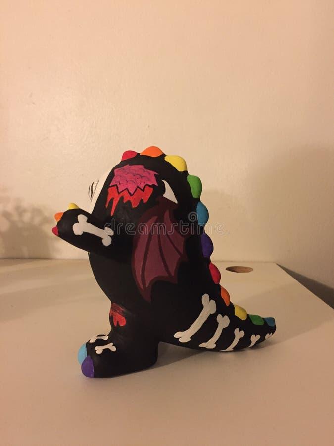回家做的3D妖怪艺术存钱罐边 免版税库存图片