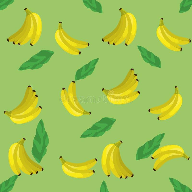 回归线叶子和香蕉设计 库存例证
