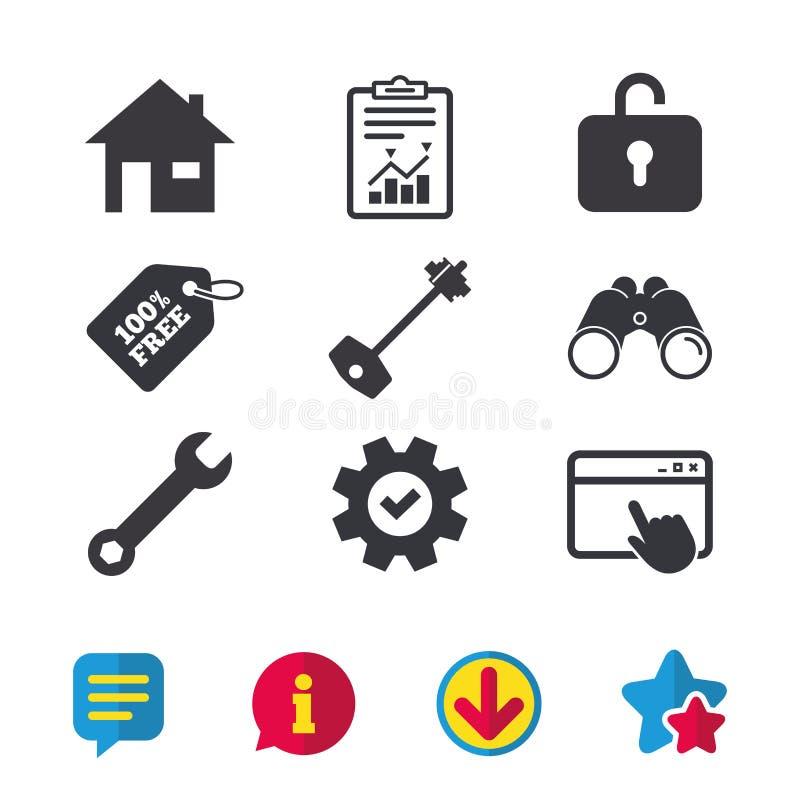 回归键象 板钳服务工具标志 向量例证