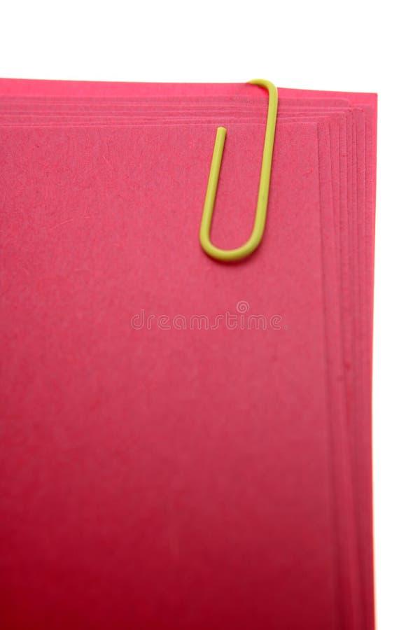 回形针纸张 免版税图库摄影