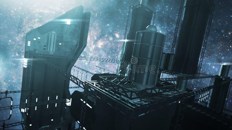 回报印象深刻的空间站的3D 向量例证