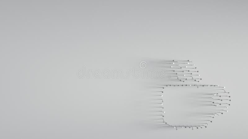 回报在热的杯子形状的3D各种各样的金属钉子  皇族释放例证