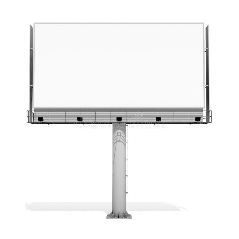 回报在白色背景的3d空白的广告牌03 向量例证