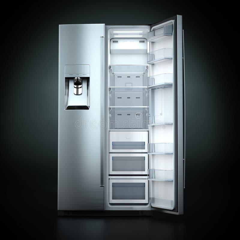 回报大冰箱的3D 向量例证