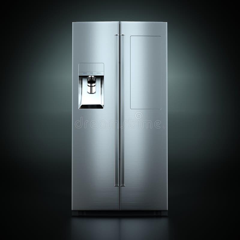 回报大冰箱的3D 库存例证