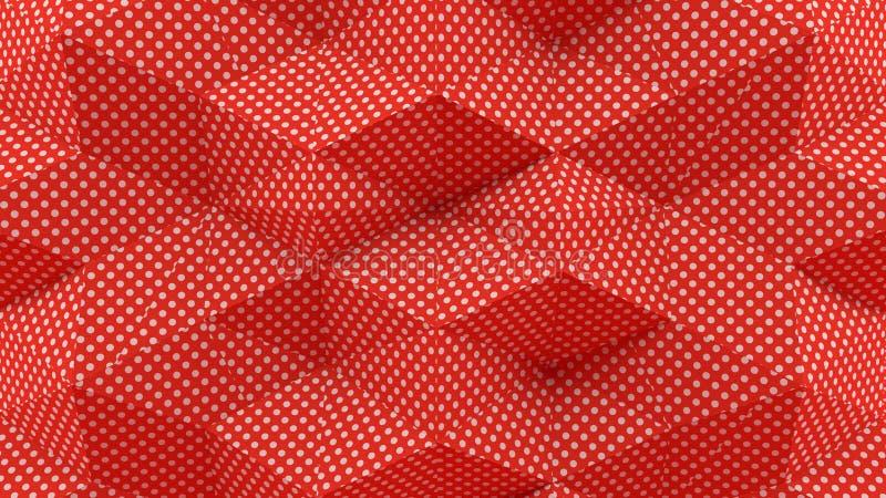 回报小点有红色背景的抽象3D 向量例证