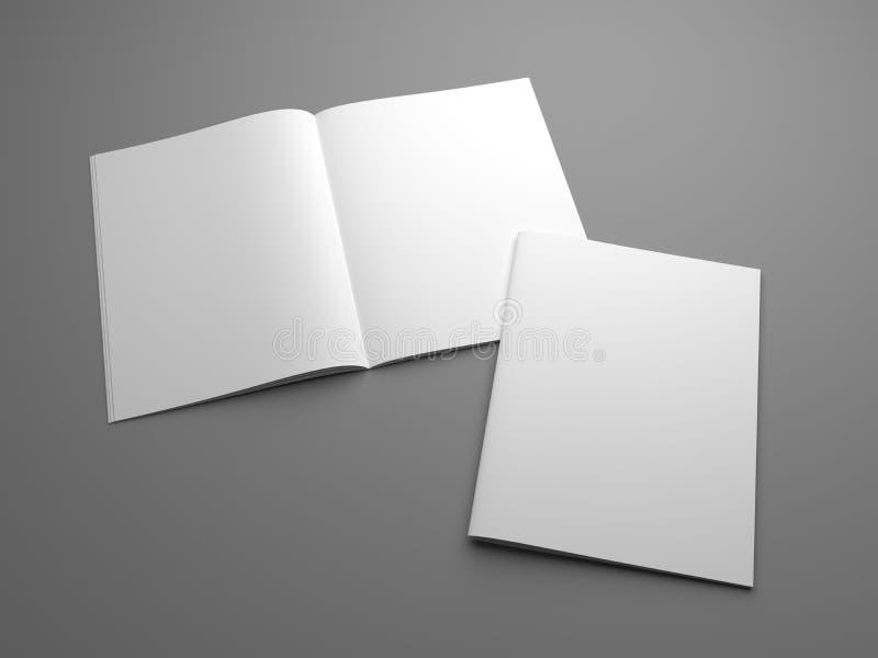 回报美国的空白开放3d在与盖子的杂志大模型上写字 皇族释放例证
