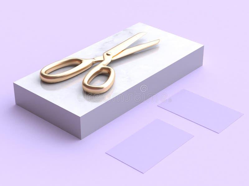 回报金子的最小的3d剪紫色场面 库存例证