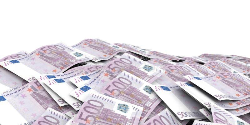 回报500张欧洲钞票背景的3d 向量例证