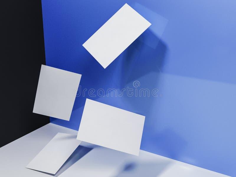 回报3d名片的图象在bl动态地驱散的 库存图片