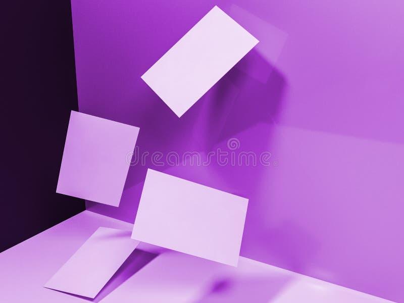 回报3d名片的图象在pu动态地驱散的 免版税库存图片