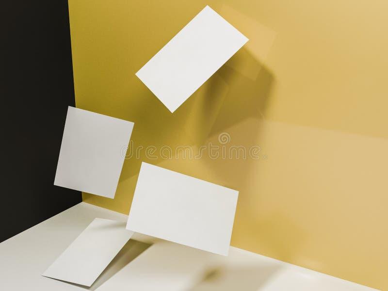 回报3d名片的图象在ye动态地驱散的 库存图片