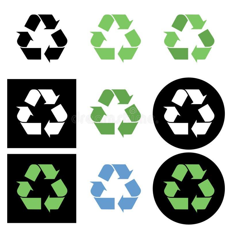 回收世界的美国亚洲大陆图标映射 库存例证