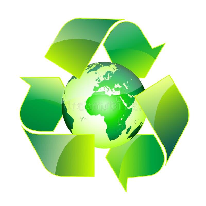 回收世界 库存例证