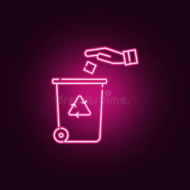 回收中心霓虹象 r r 向量例证