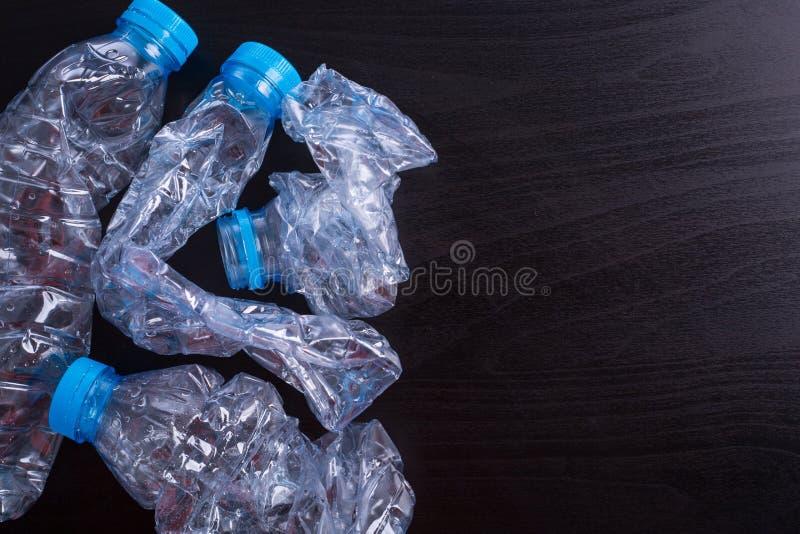 回收使用的瓶 库存照片