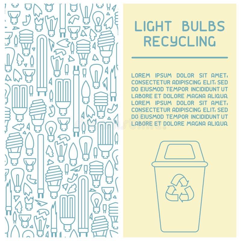 回收信息手册的电灯泡 皇族释放例证