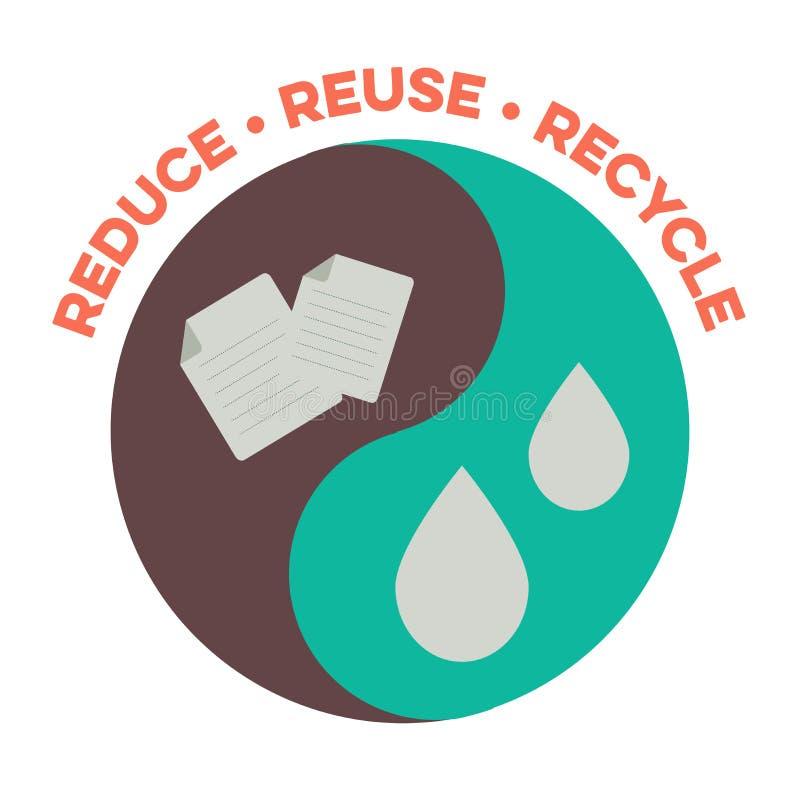 回收减少重新使用 库存例证
