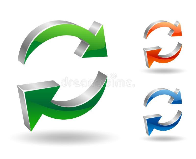 回收刷新符号 皇族释放例证