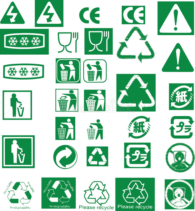 回收印花税符号向量 向量例证