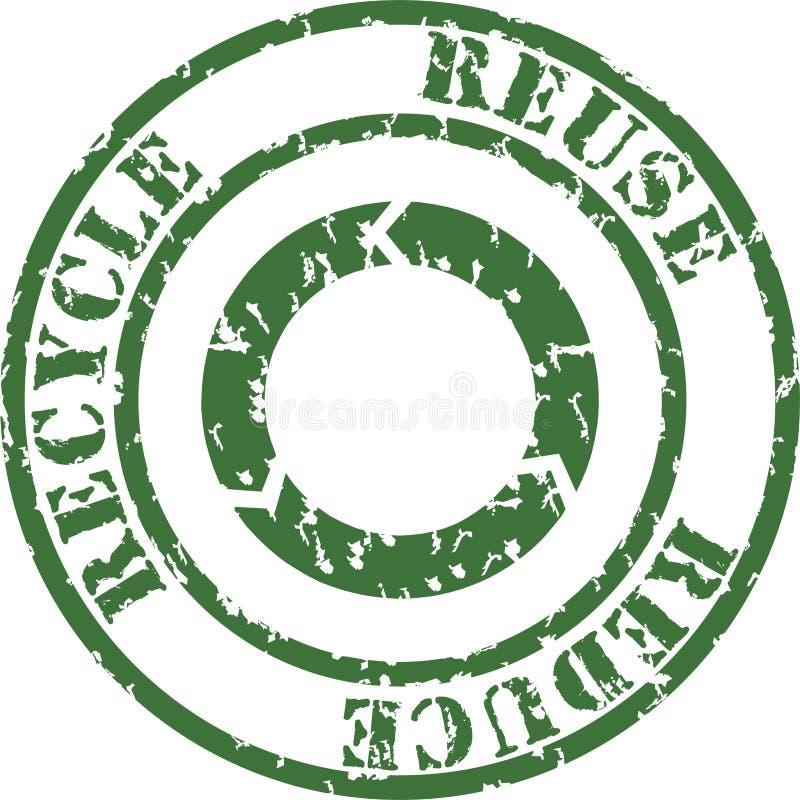 回收印花税 向量例证