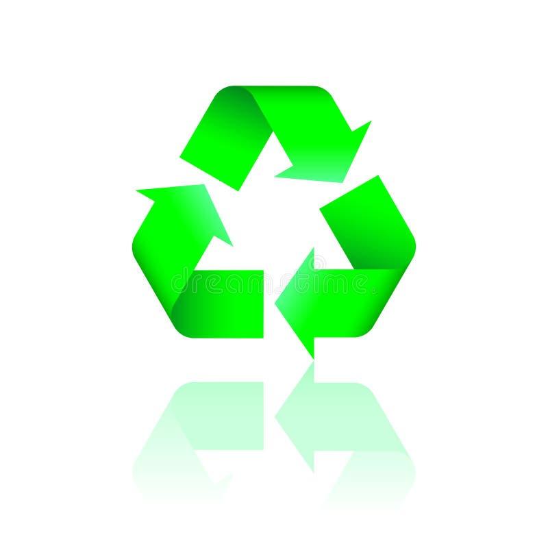 回收反映的徽标 库存例证