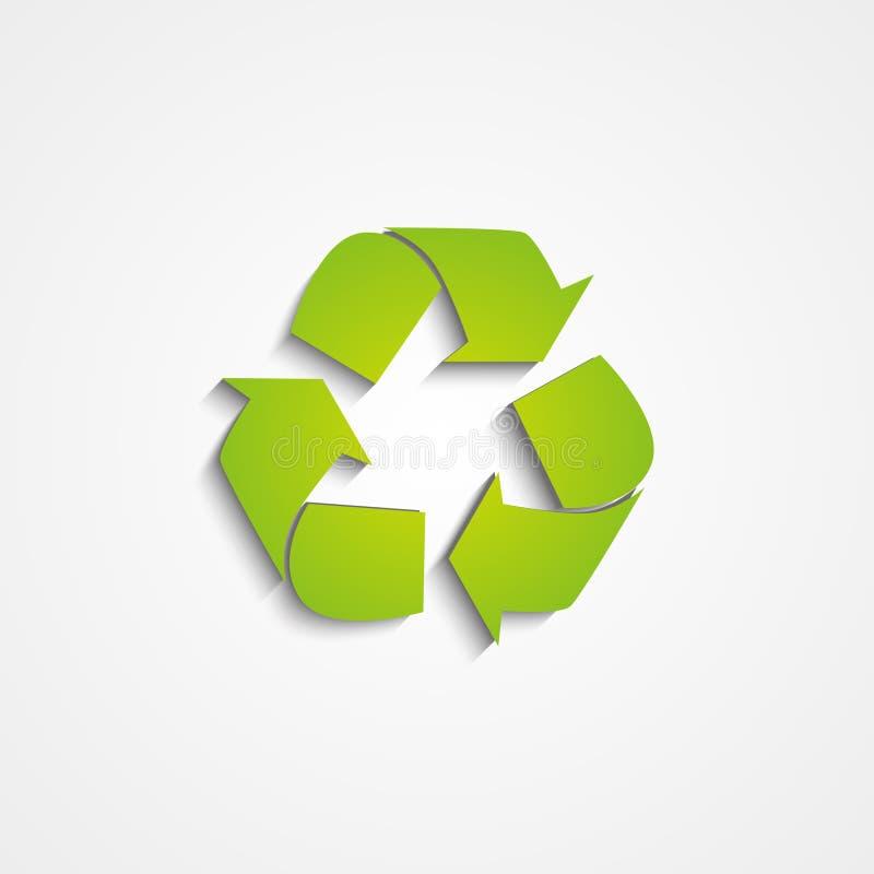 回收在白色的象 库存例证