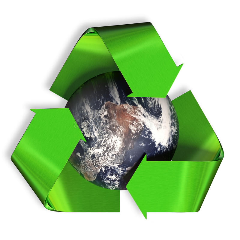 回收地球 向量例证