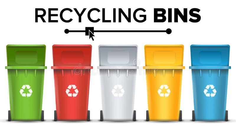 回收垃圾传染媒介的桶 向量例证