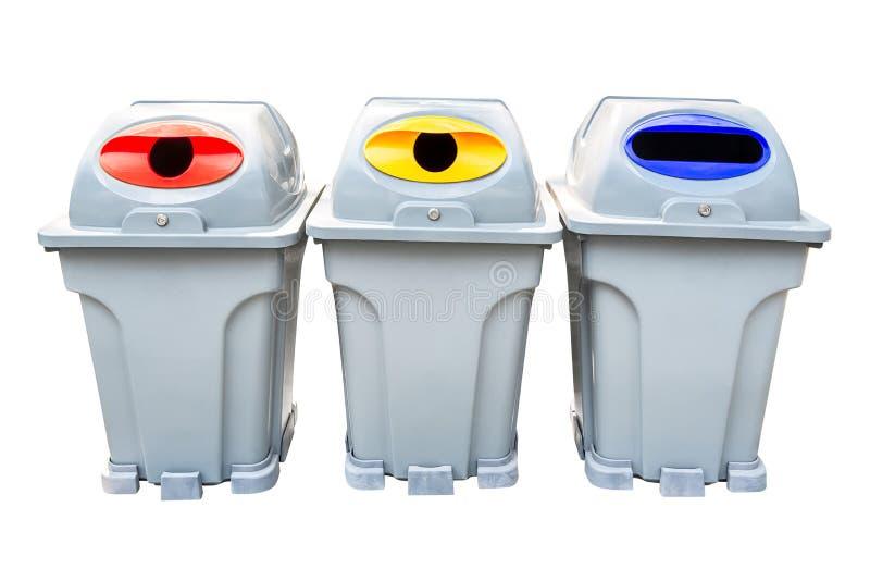 回收垃圾容器 免版税库存照片