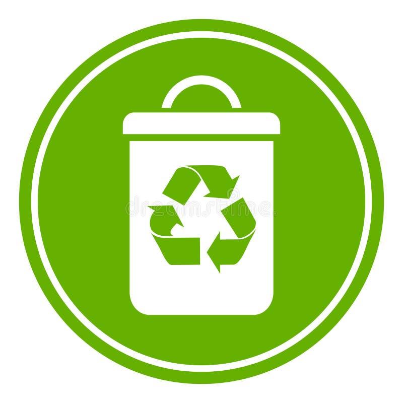 回收废物箱 皇族释放例证