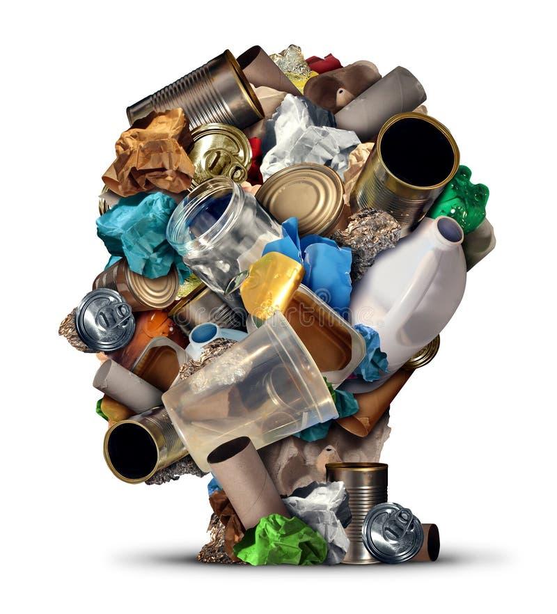 回收想法 库存例证