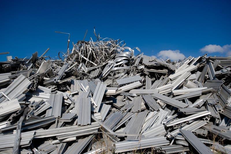 回收报废的铝 图库摄影