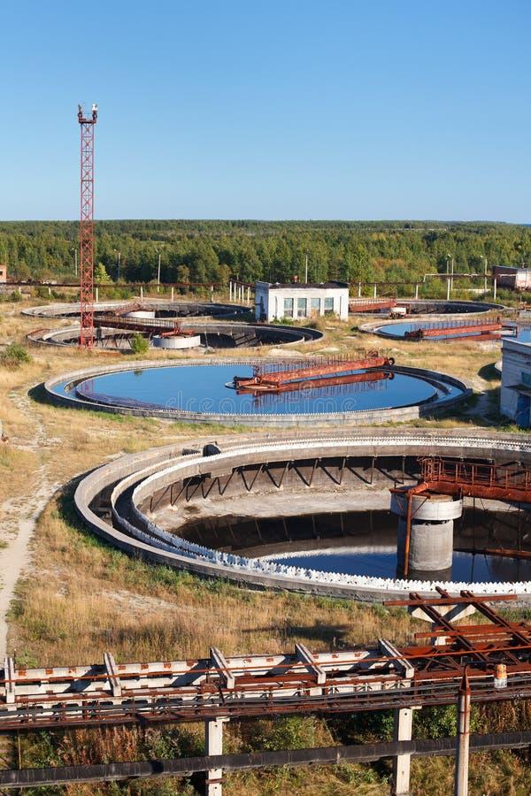 回收污水岗位水 库存照片