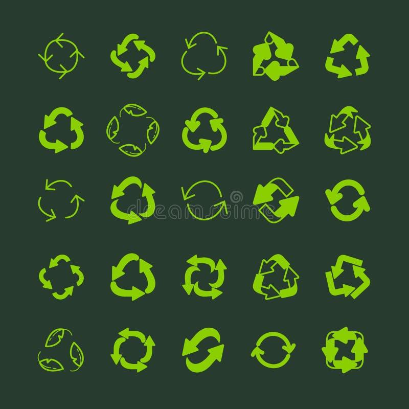 回收生态稀薄排行传染媒介象集合 向量例证