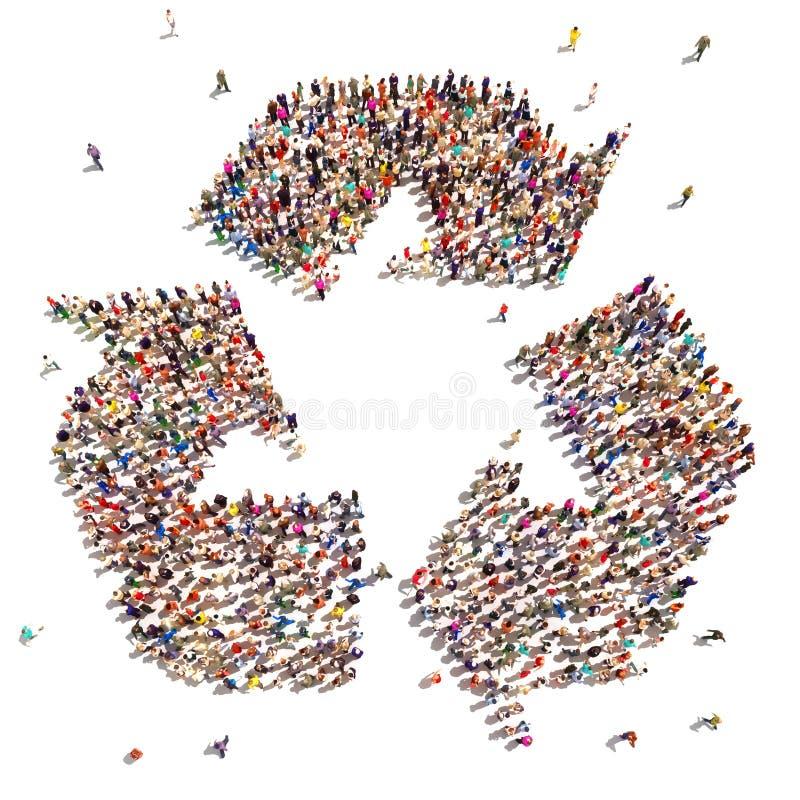 回收的人们 免版税库存照片