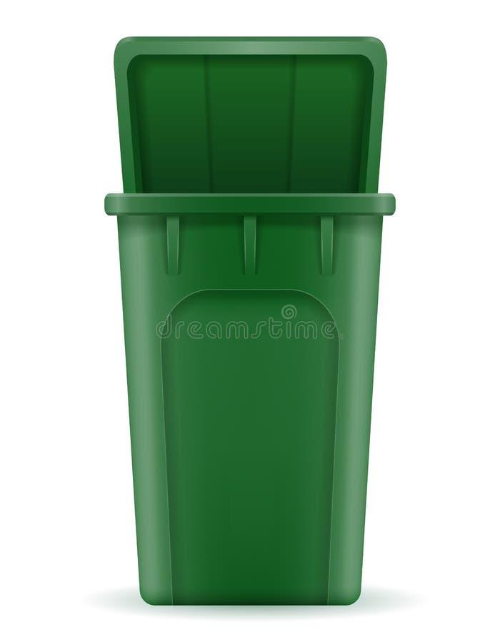回收站垃圾桶股票传染媒介例证 向量例证