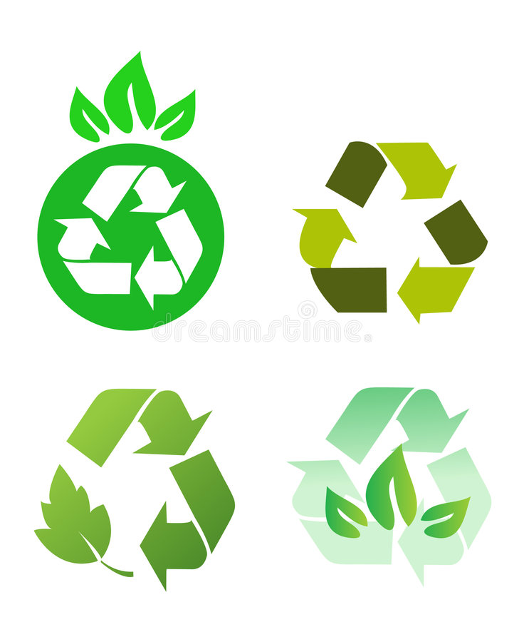 回收符号向量 库存例证