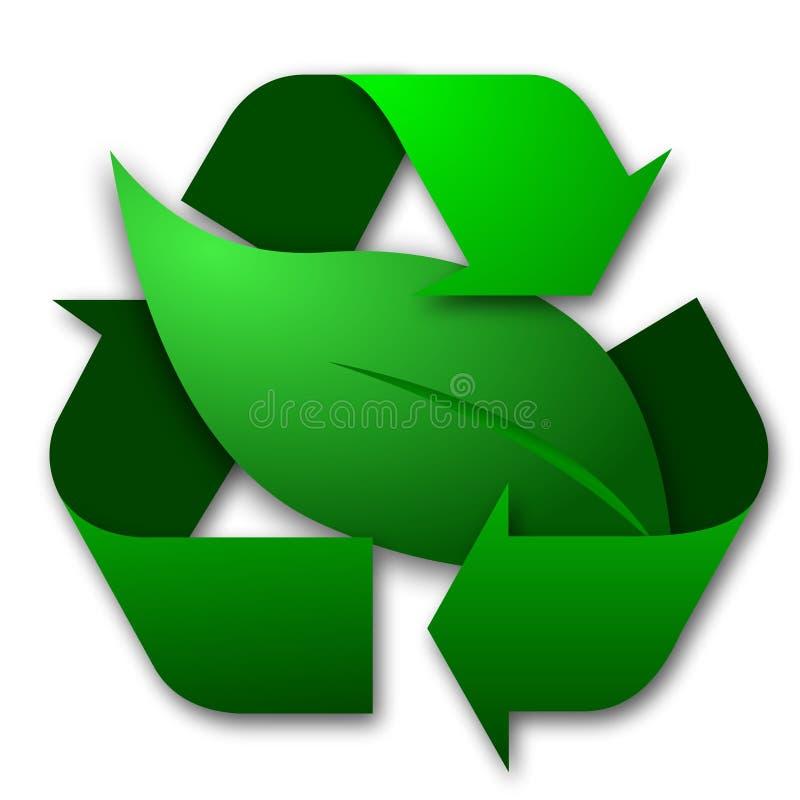回收符号的叶子 皇族释放例证