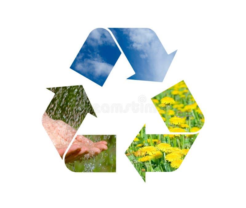 回收符号的概念性图象本质 库存照片