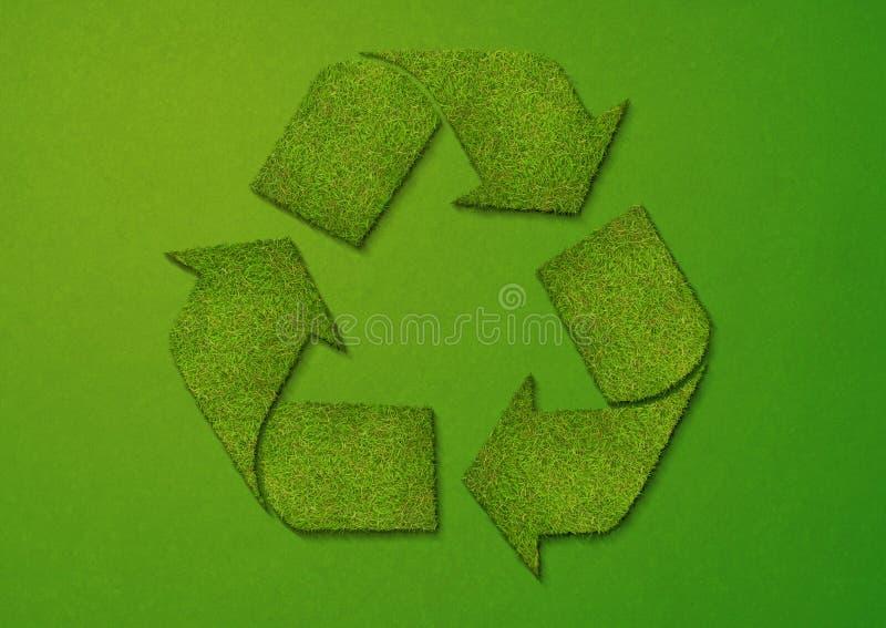 回收符号的草 向量例证